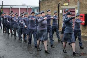 Cadets from 1407 sq on parade